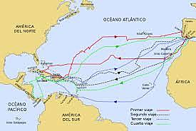 Salida de Colón a América