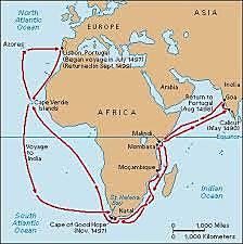 Llegada a la India rodeando África