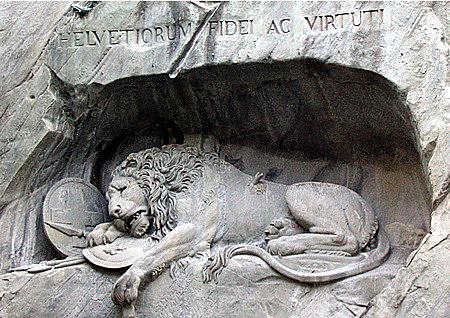 """""""León herido de Lucerna"""" Thorvaldsen"""