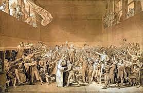 """""""El juramento del Jeu de Paume"""". Jacques Louis-David."""