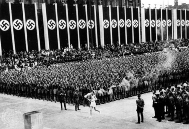 The 1936 olympic games begin in Germany