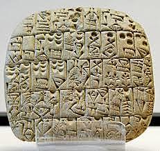 Apareix l'escriptura a Mesopotàmia.