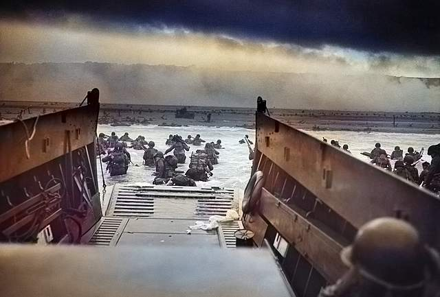 D-Day Invasion by American, British, and Canadian Troops