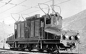 Le premier train à traction électrique