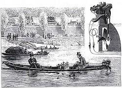 Le premier bateau à moteur électrique.