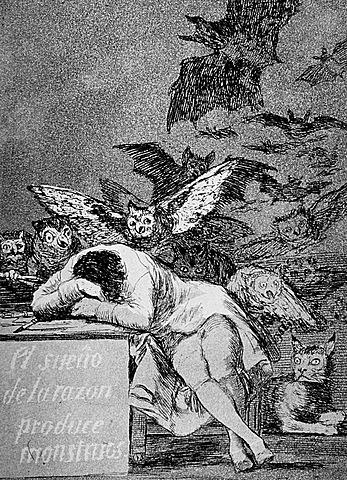 """""""El sueño de la razón produce monstruos"""" Goya."""