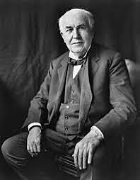 Thomas Edison et l'ampoule électrique