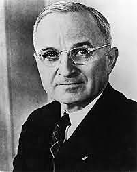 Franklin D. Roosevelt dies and Harry Truman succeeds him as President