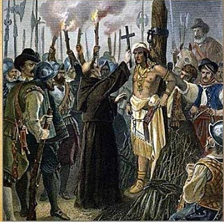 The Inca fall under Pizarro