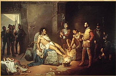 Cortes Invades the Aztec