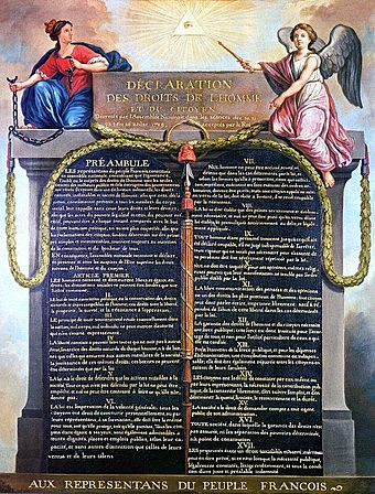 France writes the Declaration of the Rights of Man