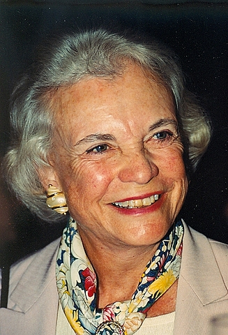 Sandra Day O'Connor is sworn in as the first woman Supreme Court Justice