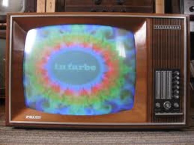 CBS televison broadcast first color tv program