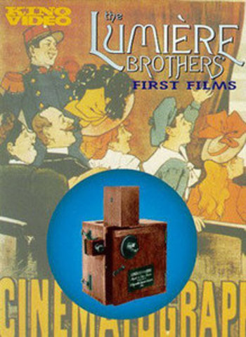 The Lumiere Brothers use (piano) music with a motion picture program (of            short subjects) for the first time