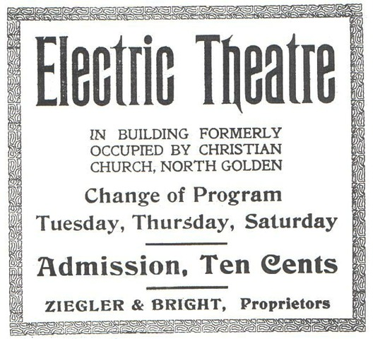 """- """"The Electric Theater"""" in Los Angeles is opened by Thomas L. Tally: the           first Nickelodeon, a multimedia movie palace, that spawned imitators nationwide;"""