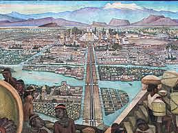 Cortés invades the Aztec
