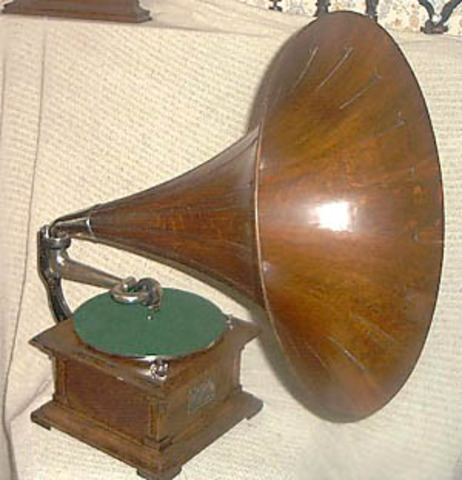 """RCA Victor's """"Victrola"""" model record player is introduced."""