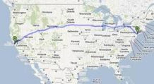 First Transcontinental Call