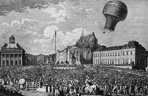 The first Hot Air Balloon was Invented