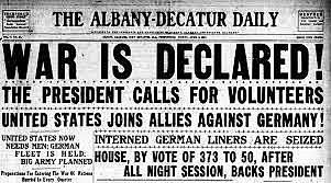 •U.S. entry into WWI