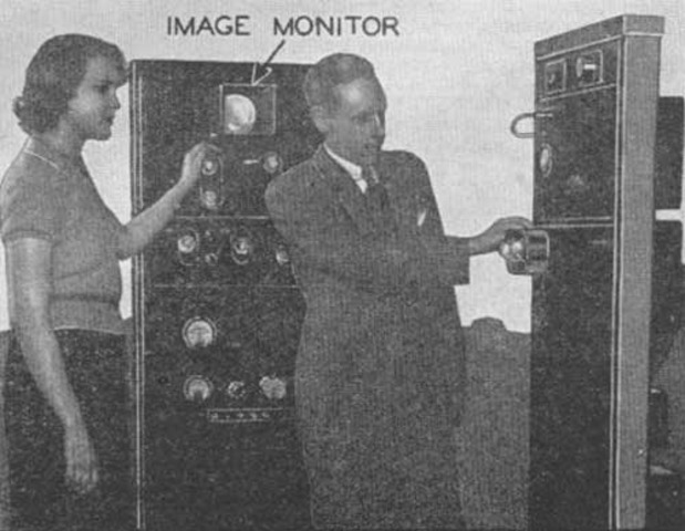 Harry Lubke, a former associate of Philo Farnsworth, builds an electronic television transmitter