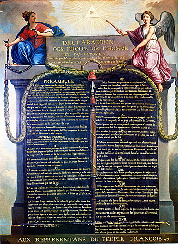 France Write the Declaration of the Rights of Man and the Citizen