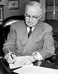 Presidential Succession Act signed by President Truman