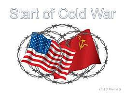 Cold War is termed and begins between U.S. and U.S.S.R.