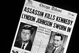 President John F. Kennedy is assassinated