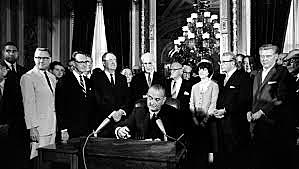 Voting Rights Act signed
