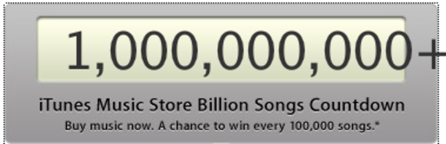Apple Computer's online music store integrated into its iTunes software             and iPod hardware, sold it's one-billionth song on this date