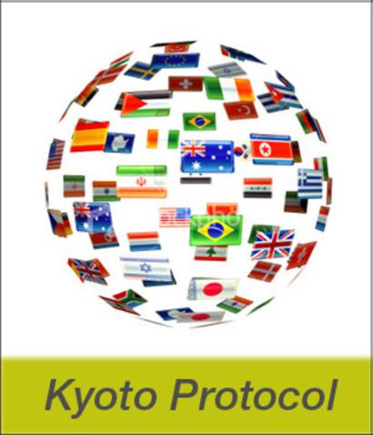 Σύμφωνα με το Πρωτόκολλο του Κιότο, τα ανεπτυγμένα κράτη συμφωνούν να μειώσουν τις εκπομπές των αερίων του θερμοκηπίου κατά τουλάχιστον 5% έως το 2012.