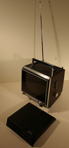 """Sony introduces the first """"solid state"""" TV set"""
