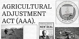 •Agriculture Adjustment Administration (AAA) (1933)