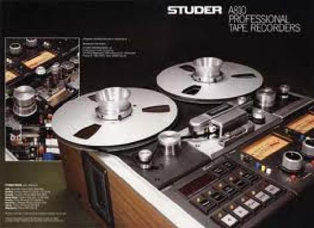 analog tape recording starts