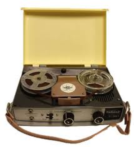 Captured German magnetic tape recorders brought to the United States