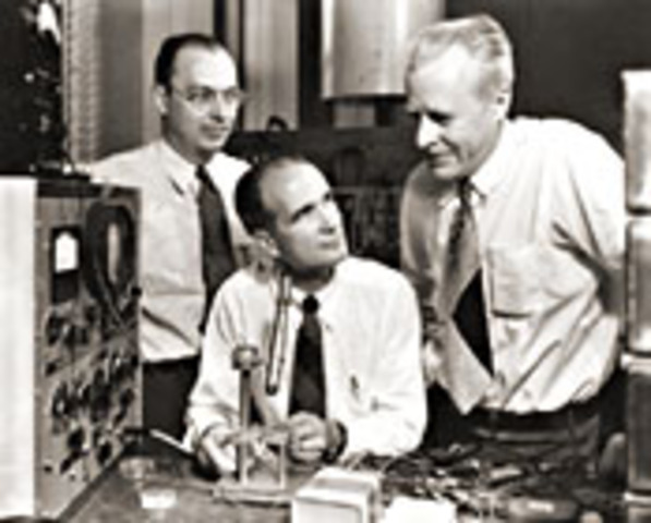 Bell Laboratories assembles the world's first transistor