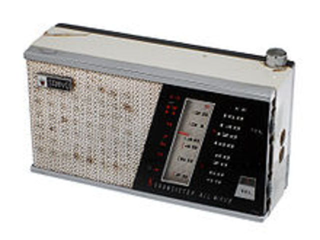 """The First """"transistor radio"""" went on sale in the U.S."""