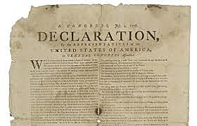 The United States declares Independence July 4