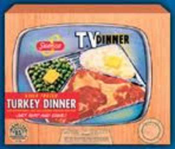 """Swanson employee Gerry Thomas invents the frozen """"T. V. Dinner"""