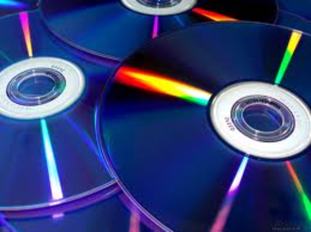 Music DVD's are introduced which can contain 7 - 10 times the amount of music