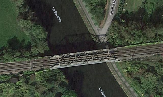 Pont-rail d'Oignies, Aiseau-Presles