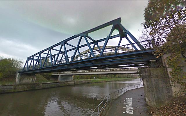 Pont ferroviaire de Péronnes, Antoing