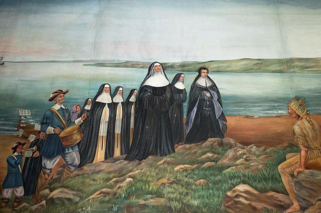 Arrivée des Ursulines et des Augustines