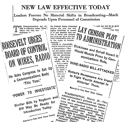 Congress passes the Communications Act