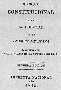 Se promulga la Constitución de Apatzingán