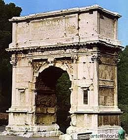 ROMA. Arco del Triunfo de Tito, (Roma).