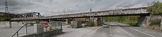 Pont-rail St Théodore, Charleroi
