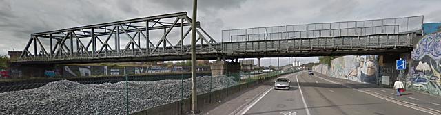 Pont-rail du Crassier, Charleroi