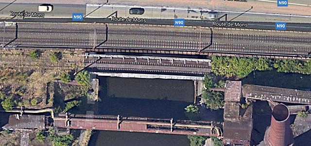 Pont-rail Ligne 260, Charleroi